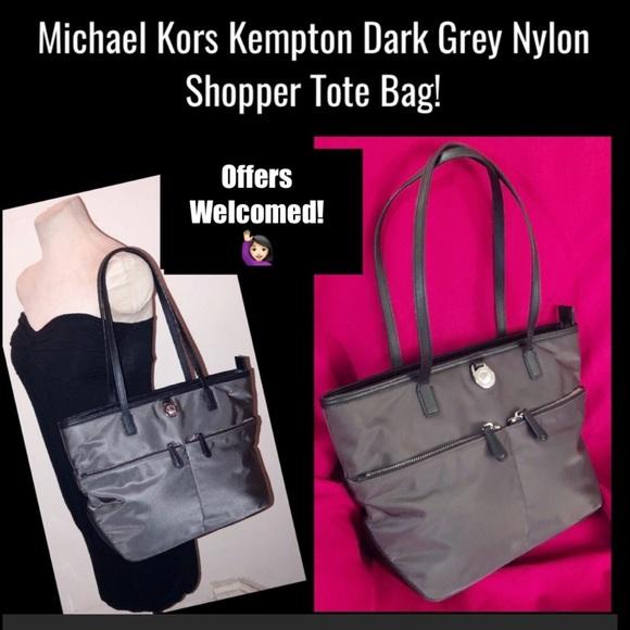 5669f924b38edc Michael Kors Kempton Grey Nylon Shopper Tote Bag! M_5c027fcbd6dc52c9c4af0cce